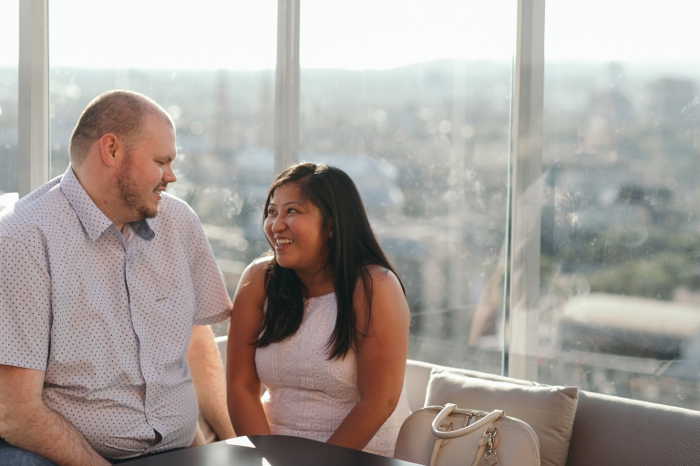 Andaz Hotel Rooftop Engagement Session Ottawa Intuition Photography